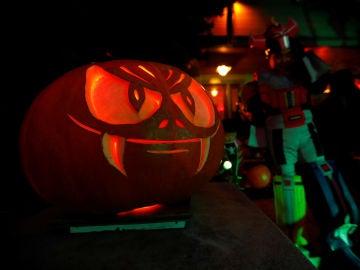 Una calabaza en una fiesta de Halloween