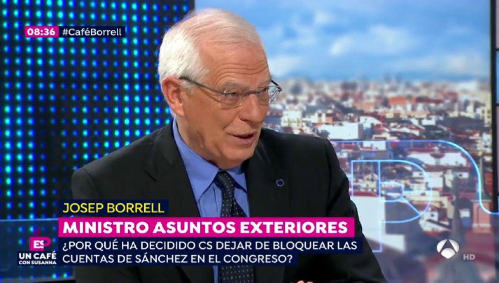 Josep Borrell en 'un café con Susanna'