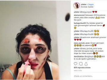 Intento de maquillaje de zombie