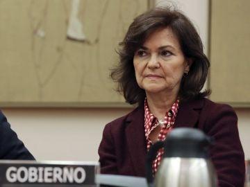 La vicepresidenta del gobierno Carmen Calvo