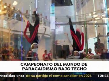 Imagen del campeonato del mundo de paracaidismo bajo techo