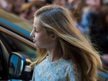 La princesa Leonor llega a un acto en Palma de Mallorca