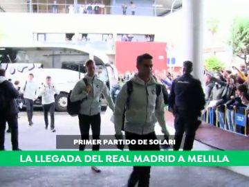 Locura en Melilla con la llegada del Real Madrid de Solari