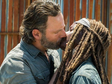 Rick y Michonne en 'The Walking Dead'