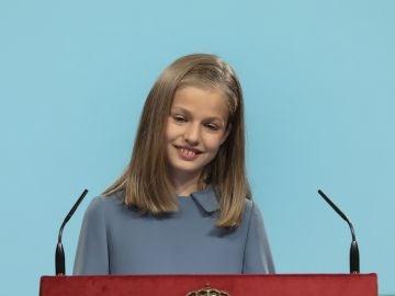 La princesa Leonor interviene por primera vez en un acto oficial