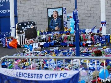 Homenaje del Leicester a su dueño, fallecido en un accidente de helicóptero