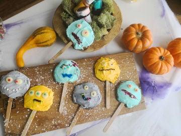 Piruletas monstruosas para Halloween