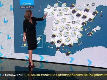 Se esperan lluvias y chubascos generalizados en el tercio nordeste peninsular, Baleares y Andalucía