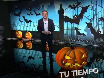 Halloween también llega al plató de 'Tu Tiempo' con Roberto Brasero