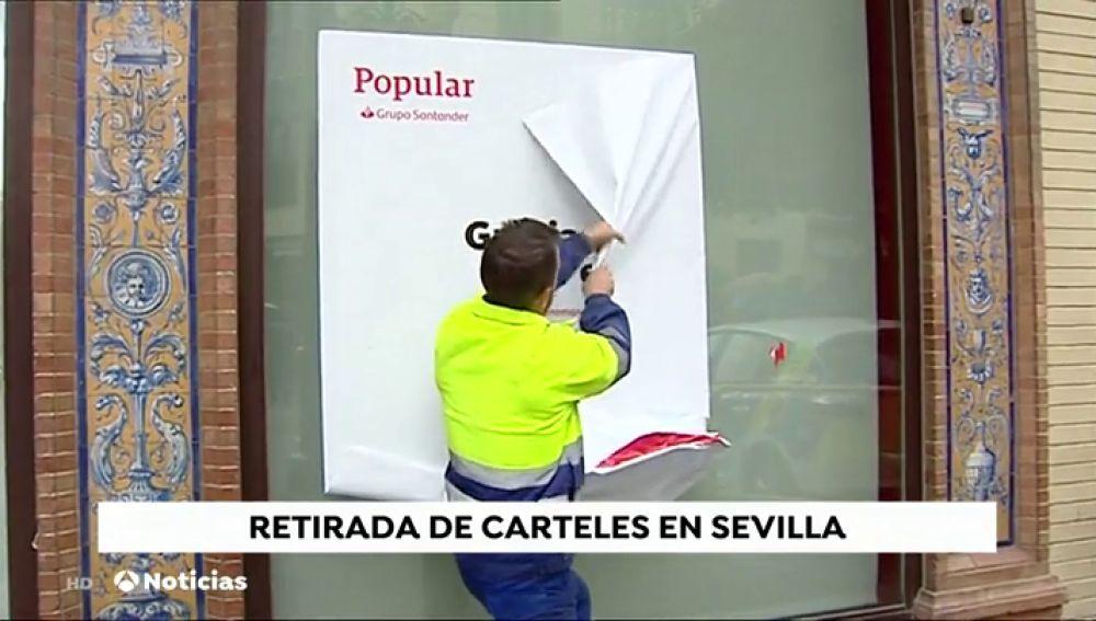 Operación Limpieza En Sevilla El Ayuntamiento Retira Carteles