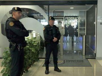Registro policial en la Federación Catalana