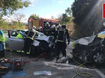 Cinco heridos, uno de ellos grave, en un accidente en Ciempozuelos (Madrid)
