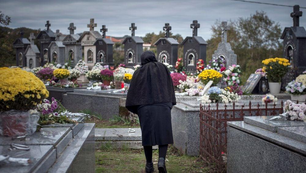 Cementerio de Muiños en el día de Todos los Santos