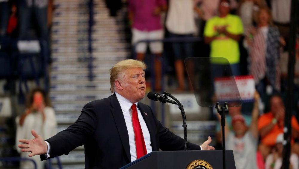 Donald Trump en un acto en Florida