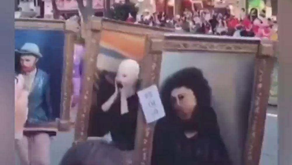 El 'Ecce Homo' de Borja triunfa en un desfile de Halloween en Tokio