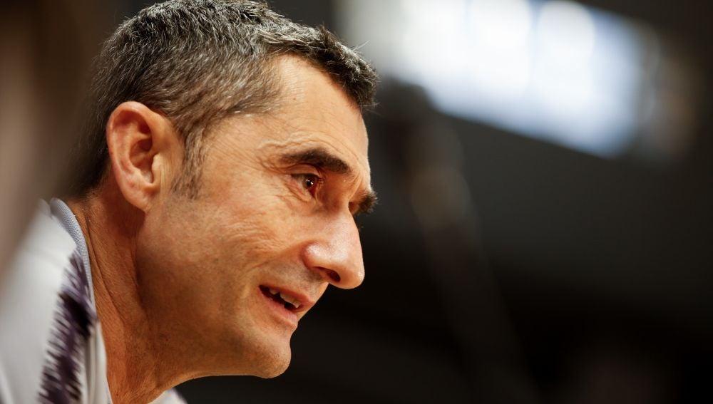 Ernesto Valverde habla ante los medios de comunicación