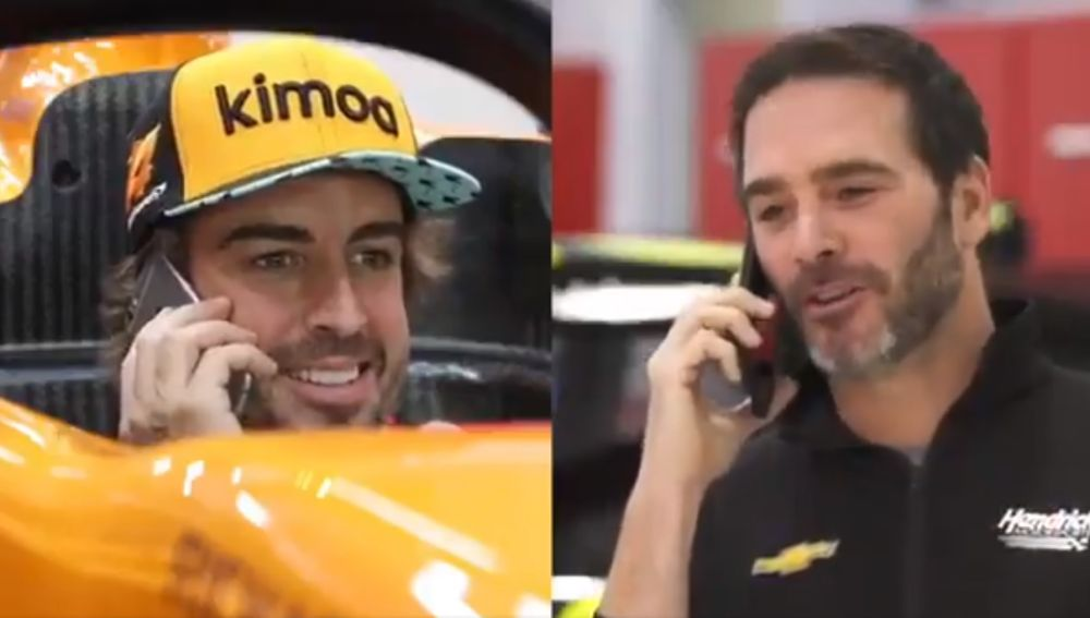 Fernando Alonso y Jimmie Johnson se intercambiarán sus coches