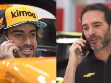Fernando Alonso y Jimmie Johnson se intercambiarán sus coches