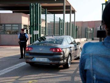 Imagen del control de acceso al centro penitenciario de Lledoners