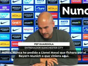 """Guardiola niega que intentase fichar a Messi en pleno 'procés': """"Nunca pedí a Leo que viniera"""""""