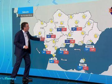 Chubascos que podrían ser localmente fuertes en el este de Baleares
