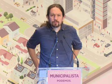 """Iglesias cree que es """"una vergüenza"""" que los """"violadores"""" de La Manada sean condenados a 9 años de cárcel y se pidan 25 para Junqueras"""