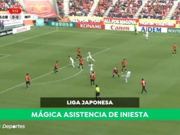 Iniesta muestra su magia en Japón: espectacular asistencia para el gol de Podolski
