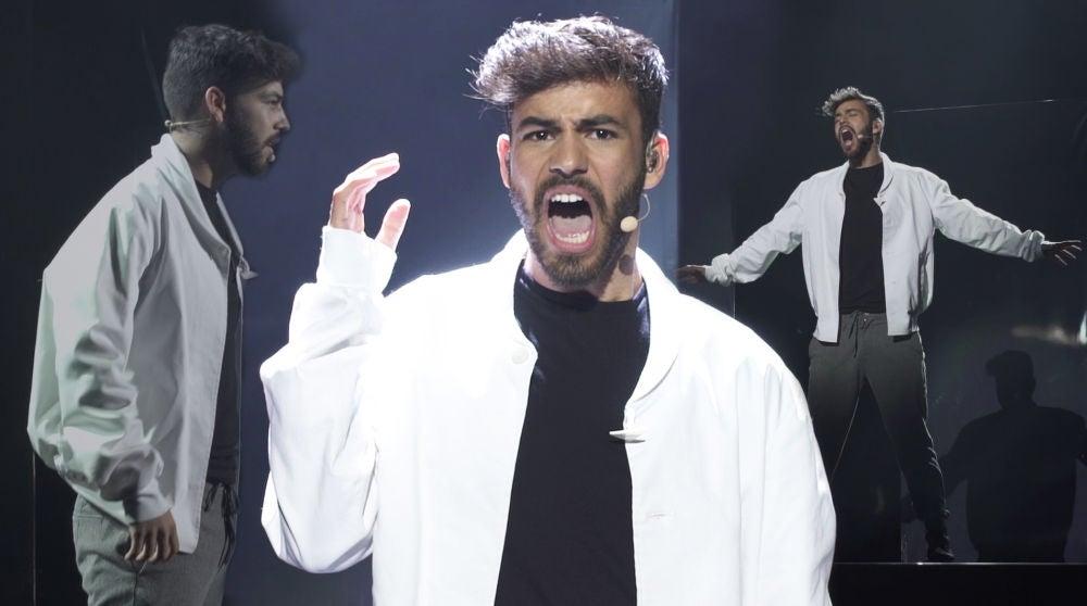 El 'desgarrador' ensayo de Agoney como Freddie Mercury sobre el escenario de 'Tu cara me suena'