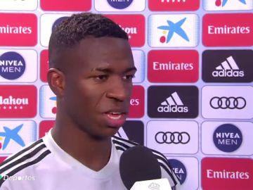 """Vinicius relata su acción en el 1-0: """"Conté uno, dos, tres y disparé fuerte"""""""