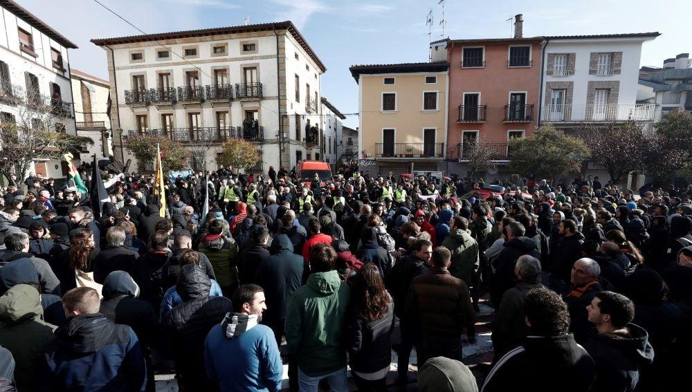 """Manifestación que en Alsasua en contra de la iniciativa """"España Ciudadana"""""""