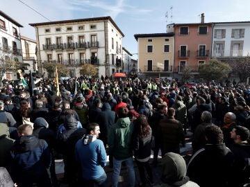 Manifestación que en Alsasua en contra de la plataforma 'España Ciudadana'
