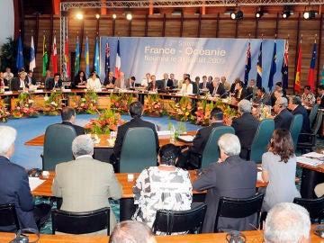 Vista general de una de las Cumbres Francia-Oceanía celebrada en Nueva Caledonia