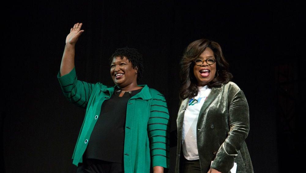 Oprah Winfrey apoya a la candidata demócrata Stacey Abrams