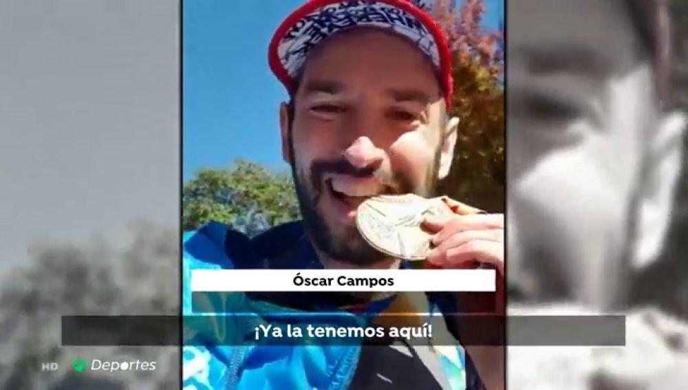 """Oscar Campos completa la segunda de sus maratones solidarias: """"Haré lo posible para estar más cerca de curar el Creutzfeldt Jakob"""""""