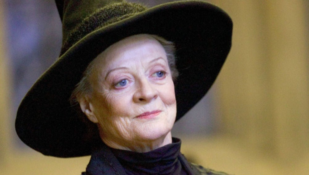 Minerva McGonagall interpretada por Miggie Smith en 'Harry Potter'