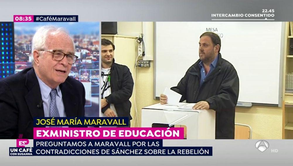 """Maravall, exministro de Educación: """"Para algunos la única solución al problema de Cataluña es bombardearla cada 40 años y yo no comparto esa opinión"""""""