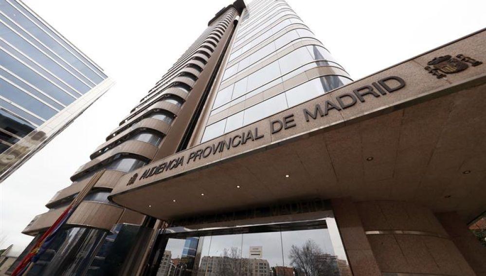 Vista de la fachada de la Audiencia Provincial de Madrid