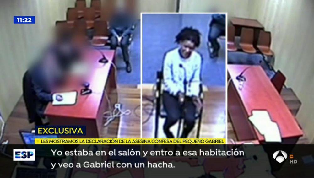 Ana Julia Quezada durante su declaración.