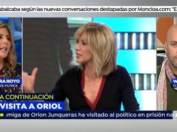 Debate entre Susanna Griso y Bárbara Royo.