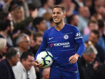 Eden Hazard, durante un partido con el Chelsea
