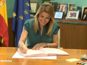 Susana Díaz declara tener sólo 80,69 euros en sus cuentas bancarias, aunque añade un depósito de 30.000 euros en un banco
