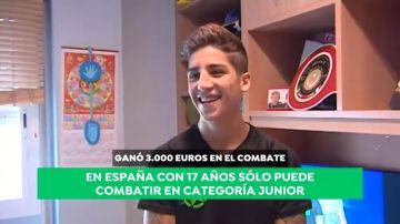 """Alejandro 'El Puma' Rivas, campeón mundial de kick boxing de 23 años a los 17: """"Hemos subido escalones muy rápido"""""""