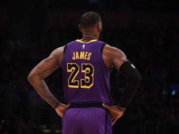 LeBron James, jugador de Los Angeles Lakers
