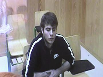 Patrick Nogueira durante el juicio por el crimen en Pioz
