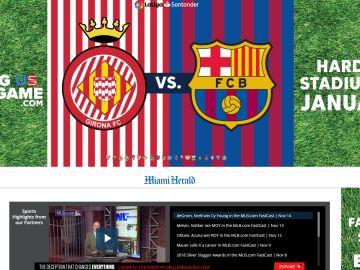 Girona vs FC Barcelona en el Miami Herald