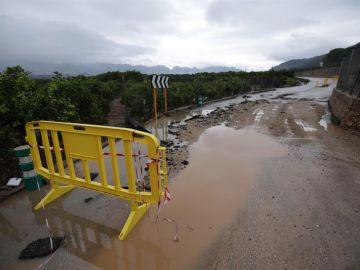 Alerta roja por lluvias en el litoral sur de la provincia de Valencia