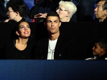Cristiano Ronaldo y Georgina Rodríguez, en el Masters de Tenis