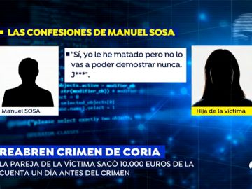 """Así confesó el asesino del crimen de Coria: """"Lo he matado pero no lo vas a poder demostrar, jódete"""""""