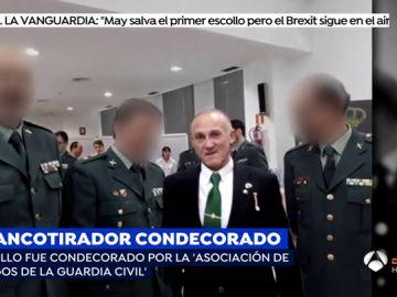 El francotirador que planeaba matar a Sánchez fue condecorado por la asociación privada 'Amigos de la Guardia Civil'