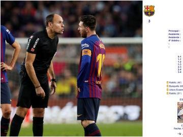Mateu Lahoz y su misteriosa acta del Barça-Betis